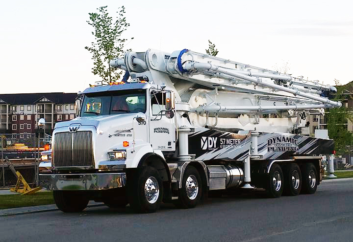 57 Meter Concrete Boom Pumps | DY Concrete Pumps