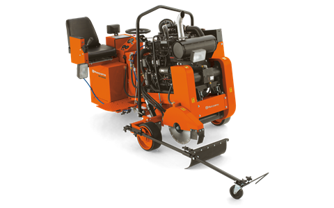 Husqvarna RS 8500 D rider saw available from DY Concrete Pumps