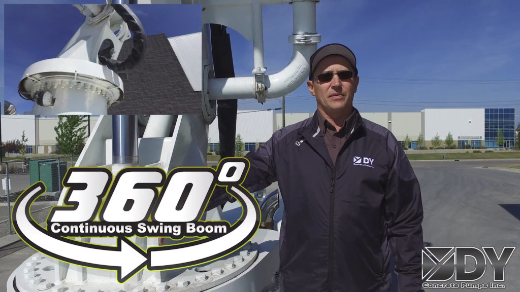 DY Features: Continuous Swing Boom and Manual Overrides