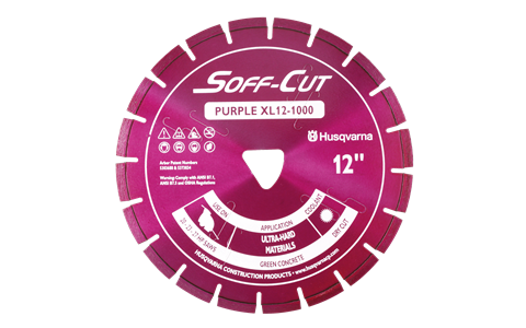 Husqvarna Excel 1000 Series Purple diamond cutting blades available from DY Concrete Pumps