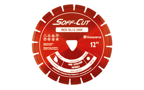 Husqvarna Excel 3000 Series Red diamond cutting blade available from DY Concrete Pumps