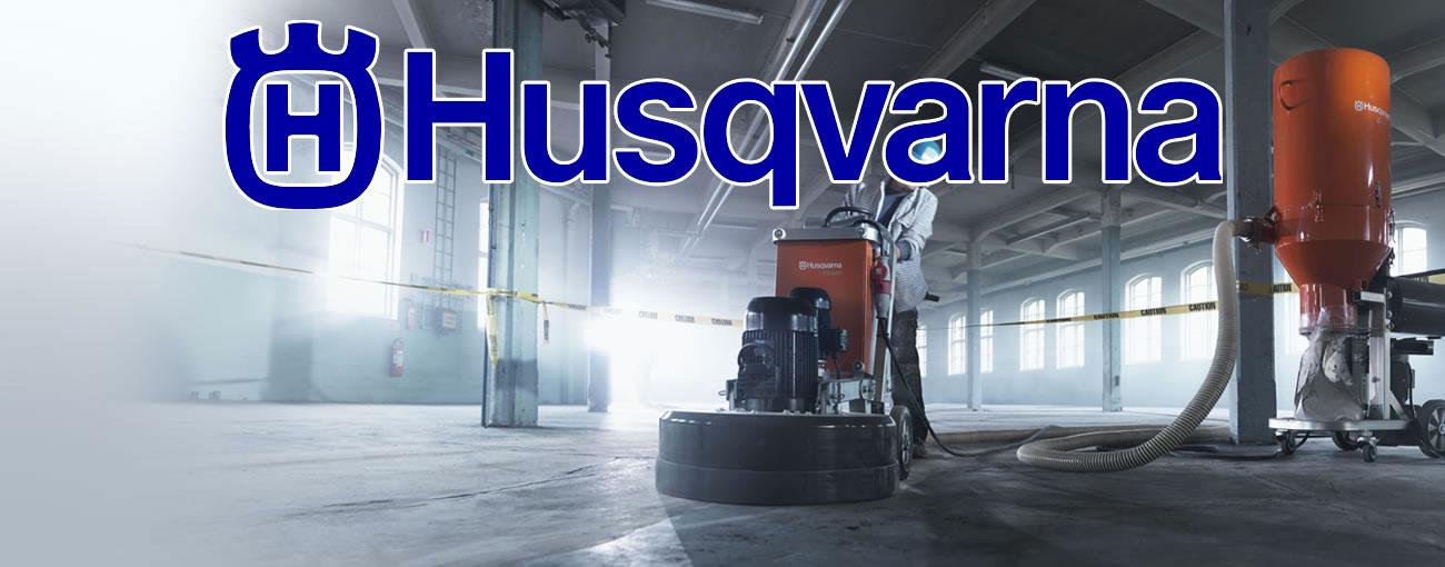 concrete contractor utilizing Husqvarna equipment to complete a concrete job