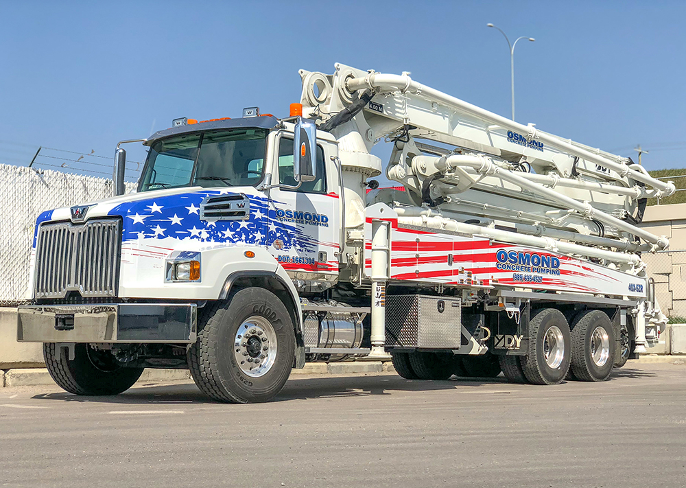 Osmond Concrete Pumping's new 40X-5ZR